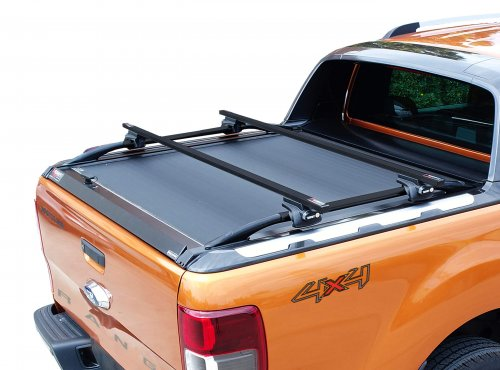 Stainless steel cross racks in black matt for WildTrak