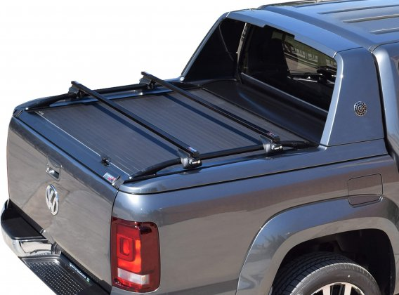 Stainless steel cross racks in black matt for VW Amarok Aventura