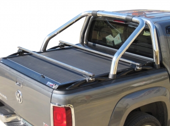 Stainless steel cross racks for VW Amarok compatible with Φ76 VW's OEM original roll bar