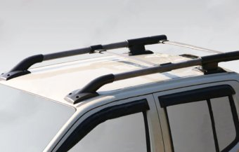 Roof rack aluminum painted