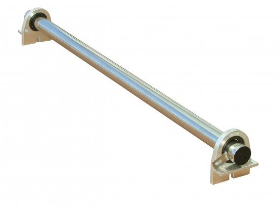 Rear stainless steel loading bar