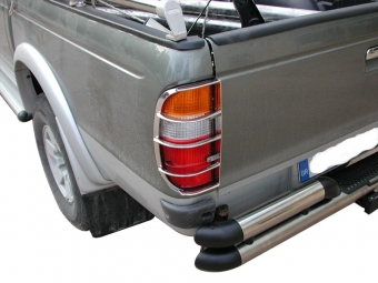 Stainless steel tail light guards.