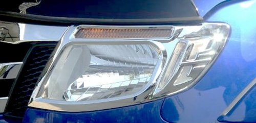 Chrome headlight guards