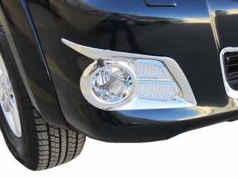 Chrome fog lamp covers