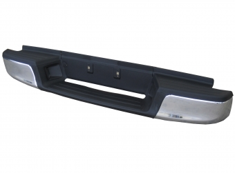 Chrome flat rear bumper