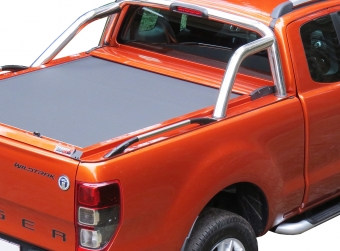 Stainless steel sport design side hand rails (pair) in 105cm (space cab)