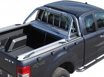 Stainless steel sport design side hand rails (pair) in 150 cm (space cab)
