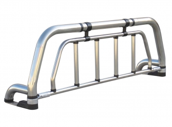 Stainless steel 1 1/2 leg with protective grille guard