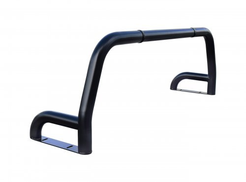 Black matt stainless steel one and a half leg roll bar