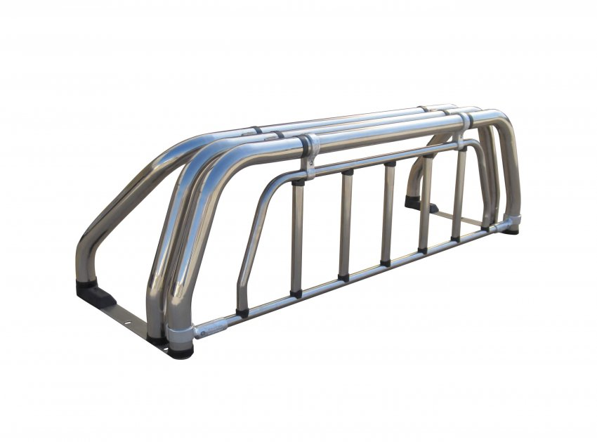 Stainless steel three legs roll bar with protective grille guard