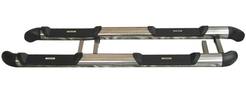 Stainless steel side steps with double footstep