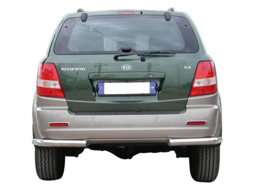 Rear bumper made from stainless steel