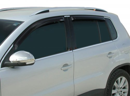 Wind visors dark tinted