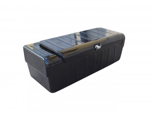 Polyester toolbox with safety lock.