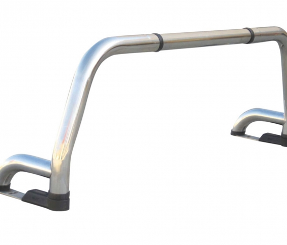 Stainless steel one and a half leg roll bar