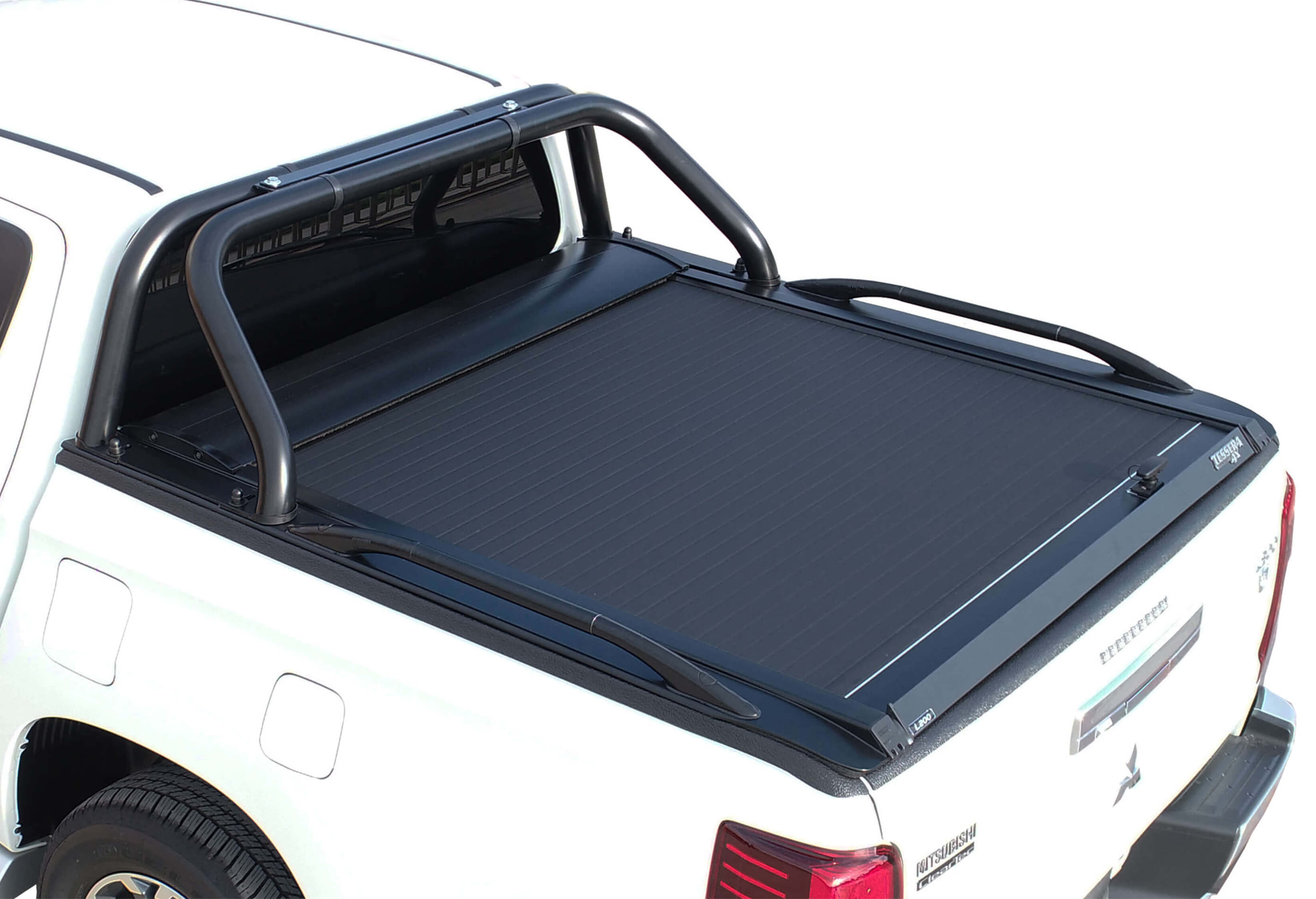 Black  matt stainless steel two legs roll bar