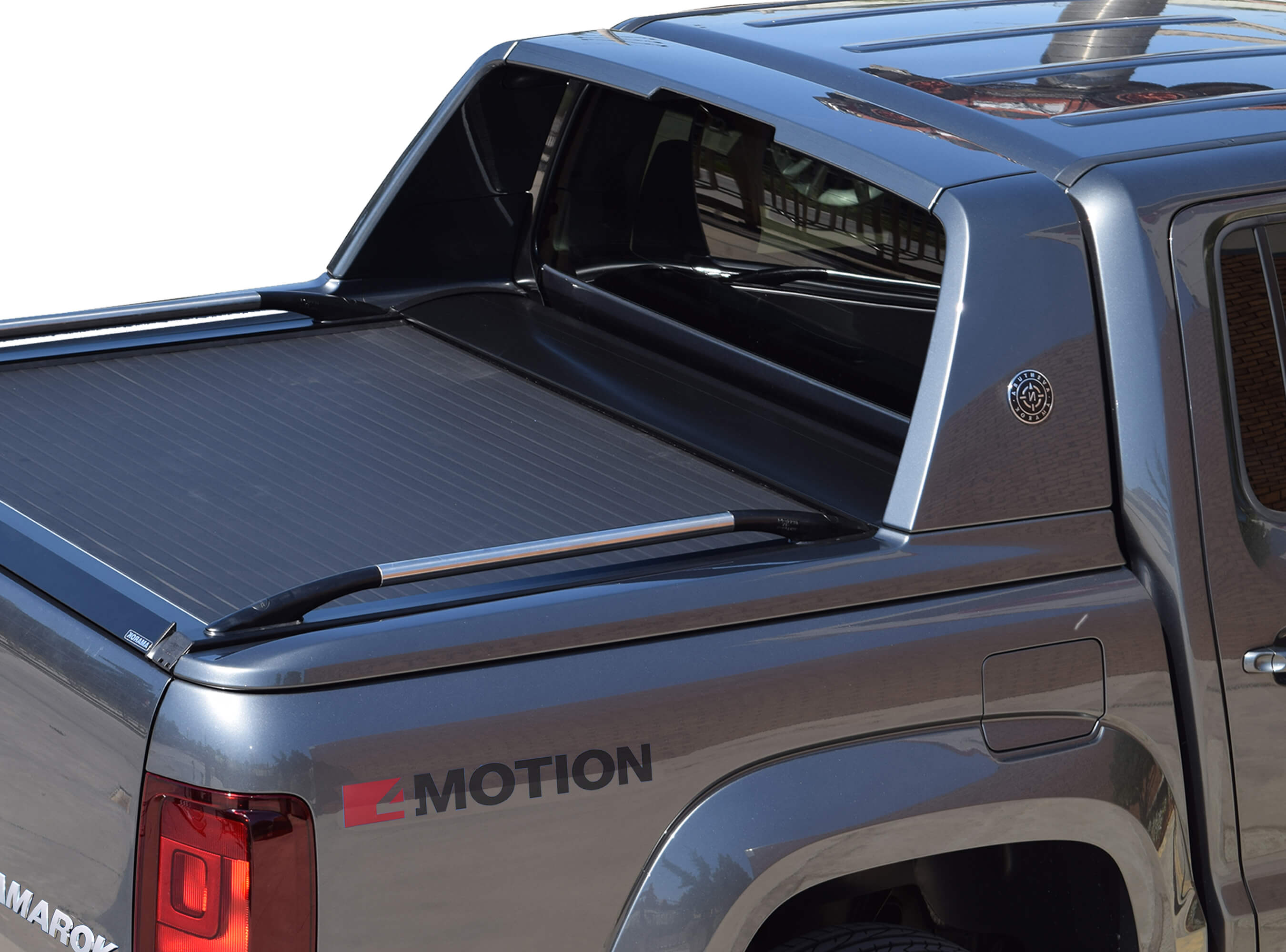 Stainless steel sport design truck handrails (pair) for Amarok Aventura