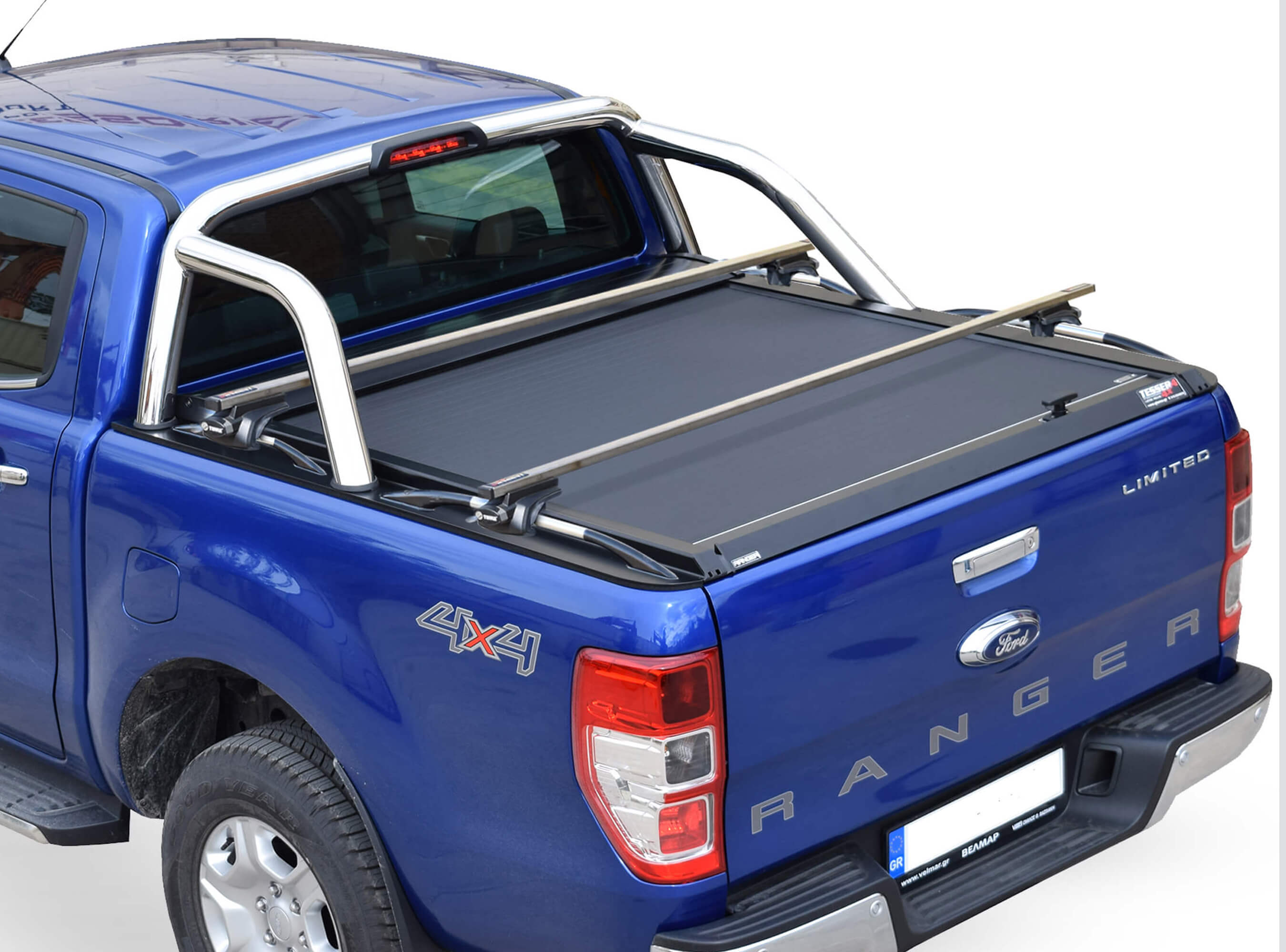 Stainless steel cross racks for Ford with OEM roll bar