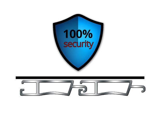 Patented hinges for 100% security